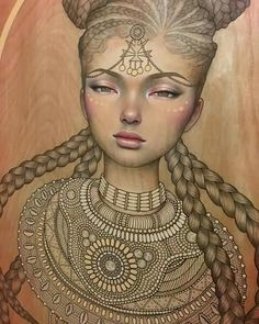 Amira by Audrey Kawasaki Audrey Kawasaki, Simple Illustration, Graphic Illustration, Heart Art, We Heart It, Art Nouveau, Estilo Hippie, Pop Surrealism, Art For Art Sake