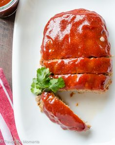 Turkey Meatloaf with Homemade Barbecue Sauce is moist and juicy with a ...