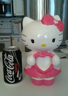 Sanrio Hello Kitty Large Ceramic Bank Holds Photo 9.5 Inches Tall