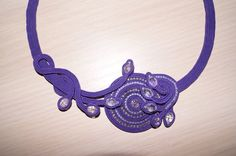 . Soutache Pendant, Soutache Necklace, Ring Necklace, Earrings, Shibori, Beaded Embroidery, Fashion Necklace, Jewelery, Fashion Accessories