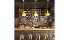 The Unfold Suspension Lamp was designed by Form Us With Love for the Danish company Muuto.Here you see the Unfold Suspension Light, whose design is so timelessl Cafe Bar, Lamp Design, Lighting Design, Lighting Ideas, Coffee Shop Bar, Coffee Shops, Pub Design, Interior And Exterior, Interior Design