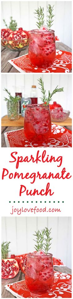 Sparkling Pomegranate Punch - this bright, festive and fun cocktail is the perfect drink to enjoy with family and friends during the holiday season. #BrighTENtheSeason #ad