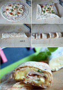 Zobacz zdjęcie Domowe rollsy  Składniki:  1 opakowanie tortilli ( u mnie pełnoziarnista) 20 ...