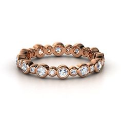 "oooh, i kinda like rose gold!  not sure how well this would ""stack"" 14K Rose Gold Ring with Diamond 