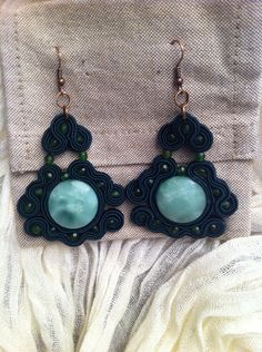 Soutache Earrings made in Italy di HugsItaly su Etsy