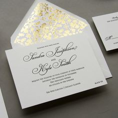 Regal Letterpress wedding invitation in black and white from Steel Petal Press Chicago