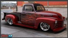 Chevy 3100, cool paint job.