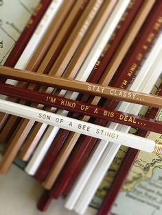 12 ANCHORMAN inspired Engraved Pencil Pack by Earmark on Etsy, $ 15.00