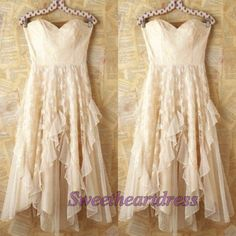 Ball gowns dresses, cute junior prom dress, vintage creamy chiffon short party dress for teens  http://sweetheartdress.storenvy.com/products/13953123-cute-creamy-chiffon-strapless-sweetheart-short-party-dresses-with-ruffles