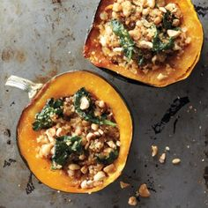 Read Whole Living's Stuffed Acorn Squash recipe. Also find healthy breakfast, lunch, snack, dinner & dessert recipes, plus heart healthy food & weight loss recipe ideas at WholeLiving.com.