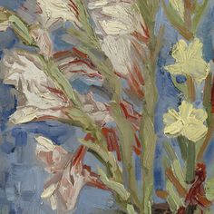Vase with Gladioli and Chinese Asters (detail) by Vincent van Gogh