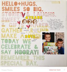 """Blog: Use """"Girly"""" Items on a Layout to Document Boys   @MaggieWMassey - Scrapbooking Kits, Paper & Supplies, Ideas & More at StudioCalico.com!"""