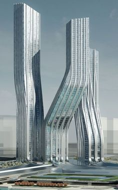 Dancing Towers, Dubai, UAE by Zaha Hadid Architects