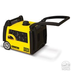 The Champion Power Equipment 75531i gasoline powered, portable inverter generator is powered by an 171cc Champion single cylinder, 4-stroke OHV engine that produces 3100 max watts.