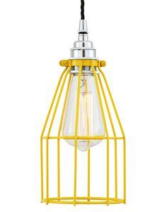 Laslámparas colgantes vintage Razede Mullan Lighting,es una lámpara que nos recuerda una pequeña jaula de pájaro. Pero en este caso funciona para dejar escapar la luz. Es una lámpara sumamente original, muy elegante, de excelente calidad y la novedad en este clásico son todos los colores que son posibles en su diseño. Con un diseño