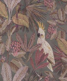 Art Deco Wallpaper, Cool Wallpaper, Pattern Wallpaper, Flora Und Fauna, Jungle Pattern, Contemporary Wallpaper, Dark Interiors, Arts And Crafts Movement, Home