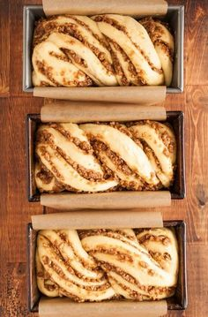 Recipe: Sticky Caramel-Pecan Babka Loaves — Recipes from The Kitchn It all started a few months back when Faith connected me with Jerry James Stone and his Three Loaves project. Jerry's simple idea, an easy intro to giving, is that… Continue Reading → Loaf Recipes, Bread Machine Recipes, Dessert Recipes, Cooking Recipes, Pudding Recipes, Cooking Tips, Dessert Bread, Pecan Recipes, Bake Off Recipes
