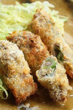 Porc roll frit au champignon, poireau et fromage – et photos de fête de papier | tabimobi