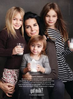 Angie Harmon And Her Daughters Star In New Got Milk Ad Campaign