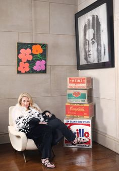 Jane Holzer: Factory Made - Jane Holzer at home, surrounded by some of her favorite Warhol pieces.