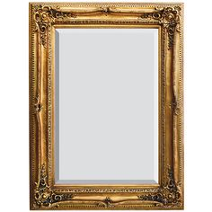 """Traditional Mirror Gold Hand Leafed Bevel Glass Large 47"""" New free shipping"""