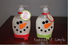 snowman soap made with vinyl. cute cheap gifts