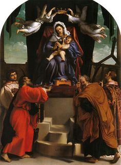 The San Giacomo dell'Orio Altarpiece is an oil painting completed by Lorenzo Lotto, the Italian Renaissance artist, dating from 1546. The painting has been placed in the church of San Giacomo dell'Orio in Venice. The painting was Lotto's one of the last works in Venice from here he moved to the Marche. #Oilpainting #painting