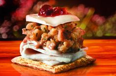 TRISCUIT Cracker Cranberry & Sage Thanksgiving Topper sounds like the perfect snack to share at a Friendsgiving gathering.