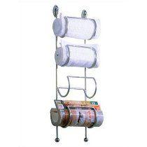 :USE Ollipsis Wine Vine/Towel Holder/Magazine Rack, Polished Chrome