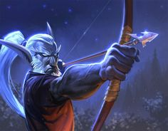 There is so few male nelf arts... and this one is awesome. Night elf hunter. <3