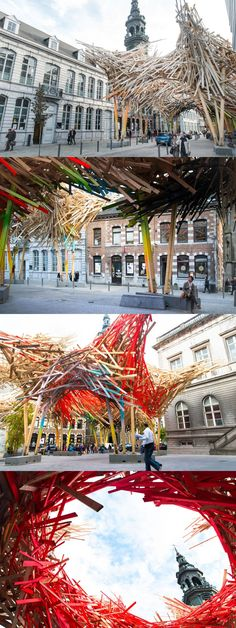 "Arne Quinze creates ""The Passenger"", a massive street installation in Mons, Belgium Installation Street Art, Artistic Installation, Mons Belgium, Sculpture Art, Sculptures, Art Public, Renaissance Architecture, Expositions, To Infinity And Beyond"