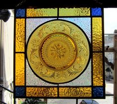 Fabulous amber stained glass plate window treatment glass art home decor interior design by hankbarnes1234 on Etsy https://www.etsy.com/listing/124594604/fabulous-amber-stained-glass-plate