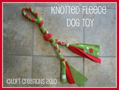 Fleece Dog Toy Tutorial
