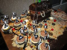 treasure chest birthday cake for pirate party
