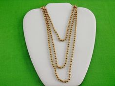 Vintage 60  Ball Chain Necklace Item 633 by LaylaBaylaJewelry
