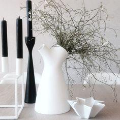 Silhouettes - FREEMOVER.se black small Rolf™ candlestick. Design: Maria Lovisa Dahlberg. With byLassen. @75anitalind