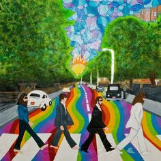 .the Beatles on Abby Road..... Must have been the LSD, eh?