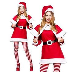 #Ladies womens mrs santa #claus #christmas sexy fancy dress costume outfit hat ca,  View more on the LINK: http://www.zeppy.io/product/gb/2/201462518892/