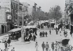 Paseo de la Reina. 1900 - Archivo Ayuntamiento.Colección: FRANCISCO RAMOS MARTÍN