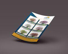 Grafische vormgeving digitale flyer voor Vd Berg Bloemen. Veel reclame plezier met de flyer. #grafischontwerp #bloemen