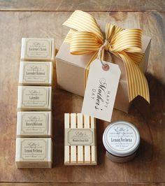 Mothers Day Gift Box - Handmade Olive Oil Soap & Shea Butter Cream, $42.50, via Etsy.