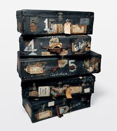 Travel suitcases full of places to discover..