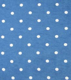 Snuggle Flannel Fabric Navy Reverse Dot