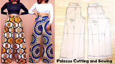 This video shows the making (Pattern drafting, cutting and sewing ) of a Palazzo Pant/ wide leg trouser /Culotte wi. Doll Dress Patterns, Sewing Patterns Girls, Clothing Patterns, Shirt Patterns, Pallazo Pants Pattern, Jumpsuit Pattern, Sewing Clothes, Diy Clothes, Barbie Clothes