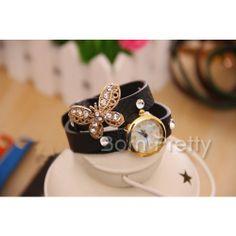 Cute! @BornPrettyStore, 1Pc Sweety Rhinestoned Bracelet Watch Delicat... at $11.18. http://www.bornprettystore.com/-p-11678.html