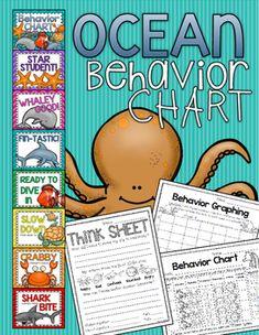 Cute Underwater Ocean Behavior Clip Chart for classroom management!