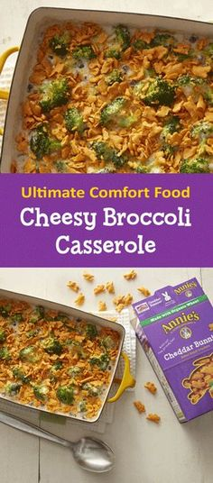 This broccoli casserole is creamy, cheesy, and crunchy, making it the ultimate comfort food. Butter 2-quart casserole. Boil broccoli until just crisp-tender. Stir in remaining ingredients except crackers until well blended. Pour into casserole; sprinkle with crackers. Bake 15-20 minutes at 400°F.