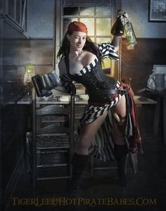 Model: Cutthroat Ally from the 2012 Hot Pirate Babe Calendar by Tiger Lee