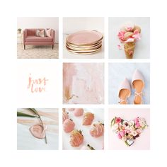 Blush pink and gold moodboard by Assimilation Designs  #pink #romantic #blush #weddinginspo #wedding #decor #moodboard #branding