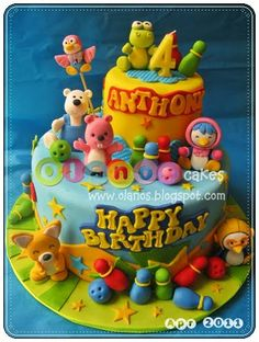 Pororo by olanos cakes First Birthday Cakes, 3rd Birthday, Birthday Parties, Cartoon Cookie, Cheesecake, Hand Logo, Chocolate, Event Planning, Winnie The Pooh